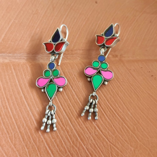 Light Multi Glass Earrings - 3