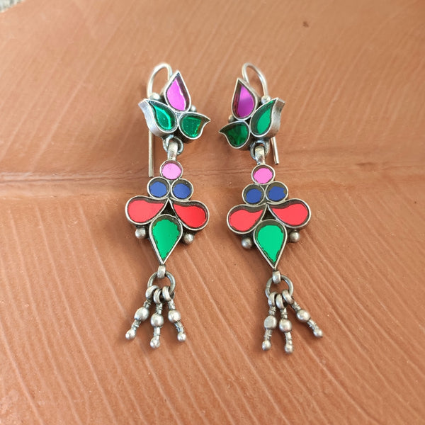 Light Multi Glass Earrings - 4