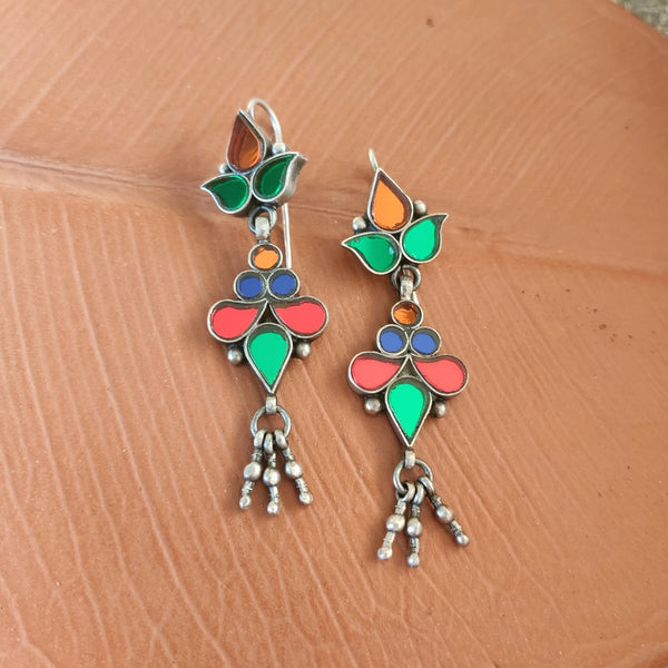 Light Multi Glass Earrings - 5