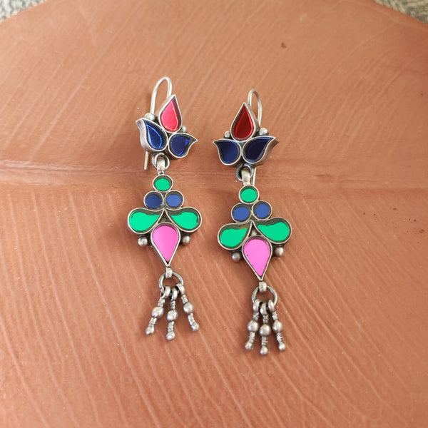 Light Multi Glass Earrings - 6