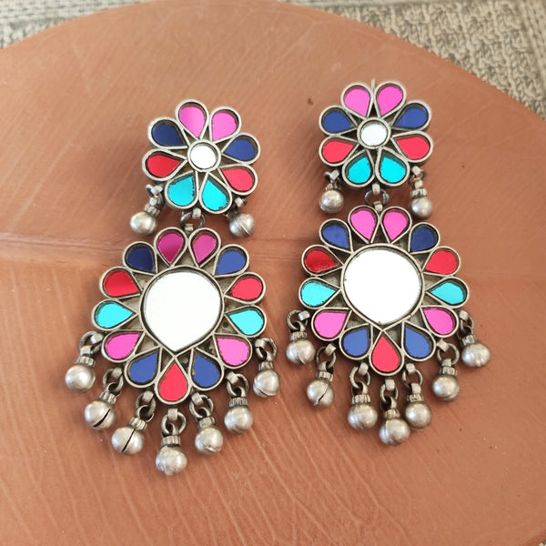 Statement Glass Earrings - Multi - 2