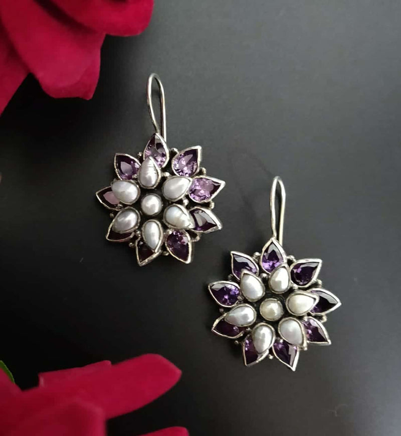 Flowers - Pearl and Amethyst