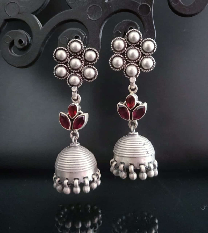 Vintage Jhumkas with a Kudi Top