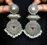 Festive earrings - Red