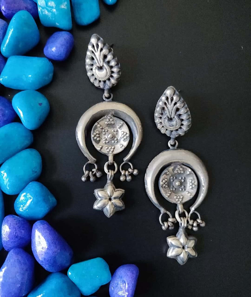 Long Silver Earrings - 2