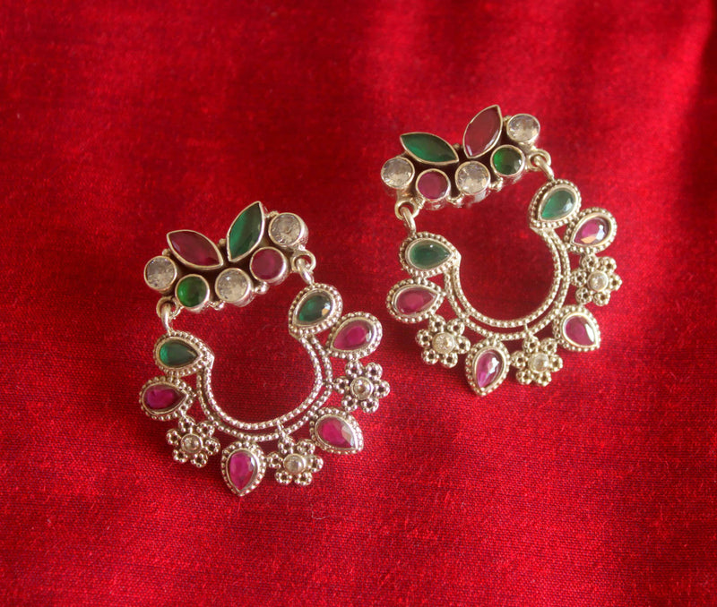 Filigree Earrings with Special Cut Stones - 1