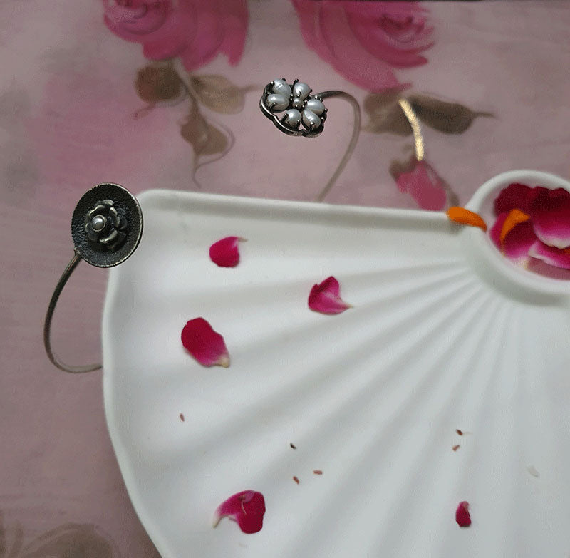 Sterling Silver Rustic Romance, Blossom Hasli - Ruby