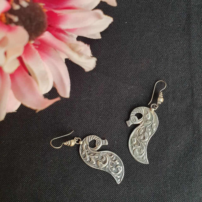 Peacock Carved Earring
