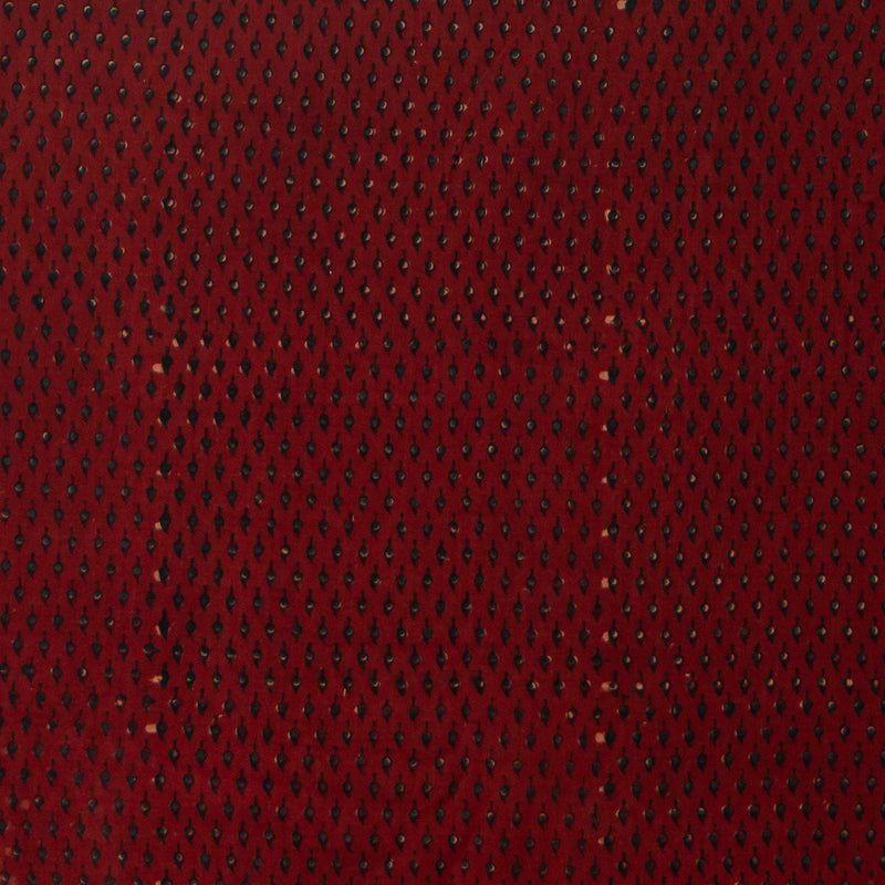 Red Drop Ajrakh Cotton Natural Dyed Fabric