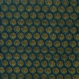Greenish Ajrakh Mul Cotton Natural Dyed Fabric