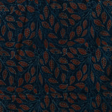 Blue Leaf Ajrakh Cotton Natural Dyed Fabric