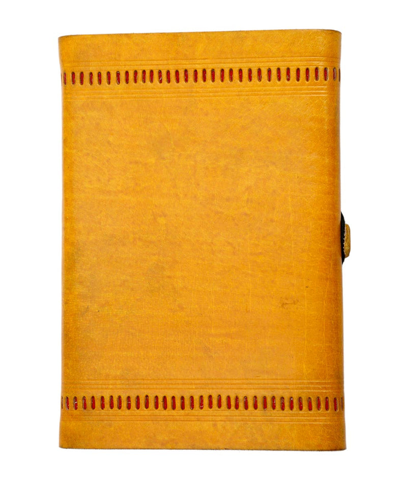 Handmadepaper Leather Punchwork Diary