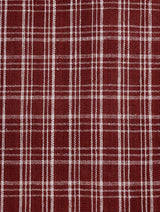 Red Checks Malkha hand woven Fabric
