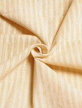 Light Yellow White Striped Handwoven Cotton Fabric