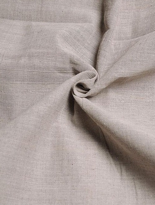 Dark Grey Handwoven Cotton Fabric
