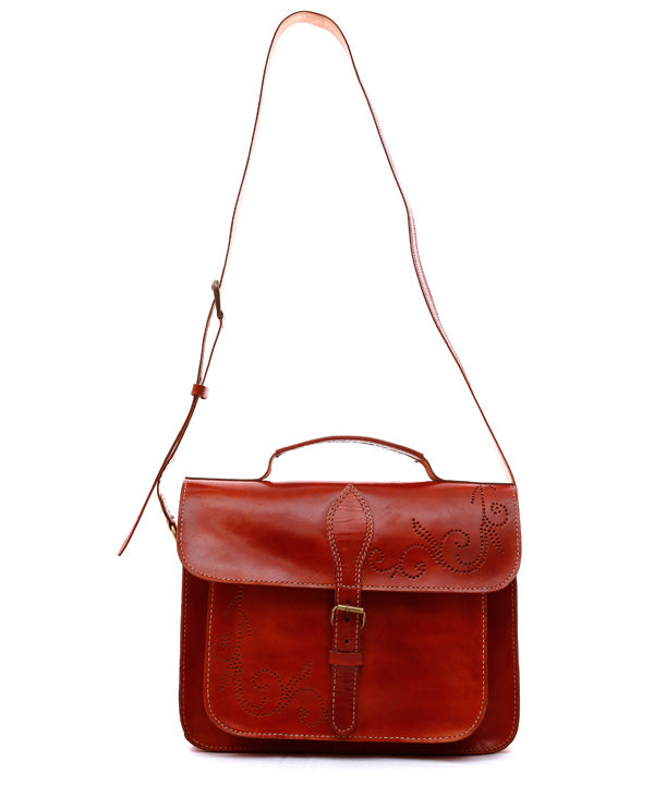 Brown Laptop Leather Bag