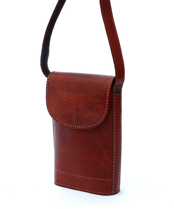 Leather Self Cross Embosing Bag