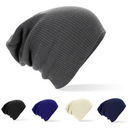Mens and Womens Trendy Casual Solid Knit Beanie