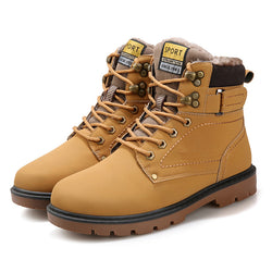 Mens Cool Classic Military Warm Winter Boots