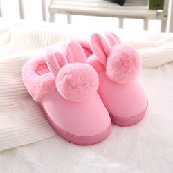 9f23b8e3004d2 New Faux Rabbit Fur House Slippers Fashion Winter Warm Women Ear Indoor  Slippers High Quality Soft