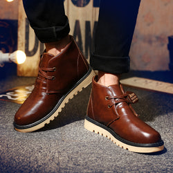 Mens Classic Cool Lace Up High Top Boots