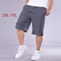Big Size Shorts Men Solid Baggy Loose Elastic Shorts Cotton Casual Plus Size Shorts Extra Large Big Plus Size 4XL 5XL 6XL 7XL
