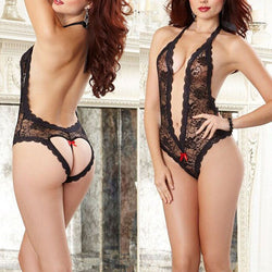 Hot Fashion sexy lingerie hot White black lace deep_v neck sexy underwear erotic lingerie sexy costumes valentine's day