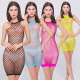 Sexy lingerie Sexy Siamese fishnet dress sex products intimate hot appeal sleepwear costumes sexy underwear netting slips wommen
