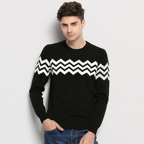 45bf434af ... Jacquard Sweaters For Men. Hot 2017 New Autumn Winter Fashion Brand Clothing  Men Knitted Sweater O-Neck Slim Fit