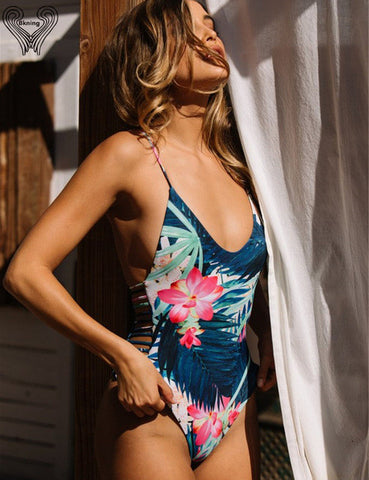 2017 One Piece Swimsuit Push Up Swimwear Women One-piece Swimming Suit Beach Wear Padded Monokini Sexy Bathing Suit Swim Suits