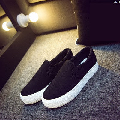 32dfcae1b2 Floral Canvas Shoes Hot Sale 2017 Fashion Appliques Slipony Women Footwear  Height Increase Girl Female Comfort