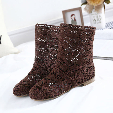10f0f86ba9c2c ... High Quality Breathable Mesh Summer Boots Women Flat Heel Ankle Boots  2017 Summer Womens Boots Fashion ...