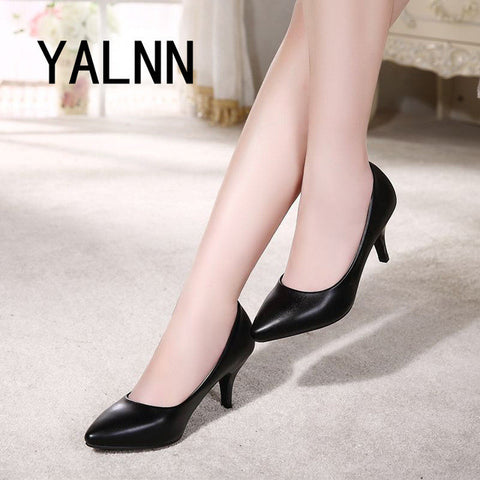 Pointed Dress Heels Pumps Shoes High Toe Boat Mature Women Ybygvf76