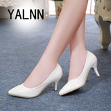 Mature Women Shoes Pointed Toe Pumps  Dress Shoes High Heels Boat Shoes Wedding shoes zapatos mujer 7 Cm Black Stiletto Pumps