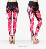 Zohra Brand Women Colour Geometry Printing Legging High Elastic Fitness Legging Trousers LeggingsWomen Pants