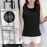 Womens Casual Chiffon Summer Blouse Sleeveless Loose Shirt
