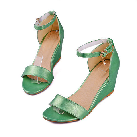 41be78259a9905 Meotina Shoes Women Sandals Summer Open Toe Party High Heel Wedges Platform  Sandals Crystal Ladies Shoes