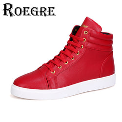 Mens Trendy High Top Lace Up Urban Sneakers
