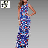 Womens Cool Summer Bohemian Boho Maxi Casual Long Dress