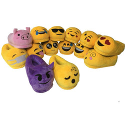 Mens Funny Cool Emoji Plush House Slippers