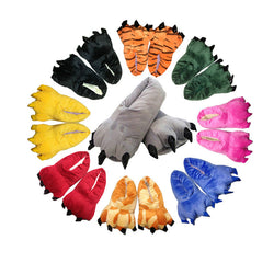 Mens Cool Funny Animal Paw House Slippers