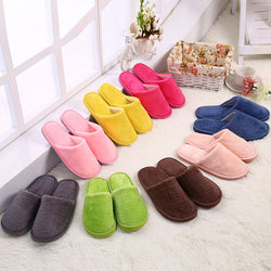 2017 Autumn Winter New Men Women Floor Slippers Candy color House Indoor home Plush Slippers Shoes 7 Color