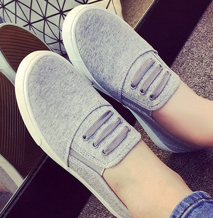 large Size 35-43 fall autumn 2016 Women Fashion Slip On Woman Flat Casual Shoe Canvas Leisure espadrilles Fujin student shoes