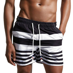 2017 New Brand Board Shorts Men Beach Swimwear Swim Short Stripes Man Bermudas Surfing Boardshorts Quick Dry Male Sea Sport Wear