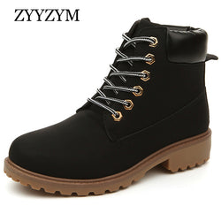 Mens Hip Leather High Top Lace Casual Boots