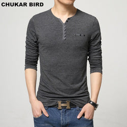 Mens Simple Stylish Slim Fit Long Sleeve Tee