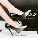 pink wedding shoes pumps dress shoes womens pumps pointed toe high heels pumps womens heels bride shoes party silver pumps D990