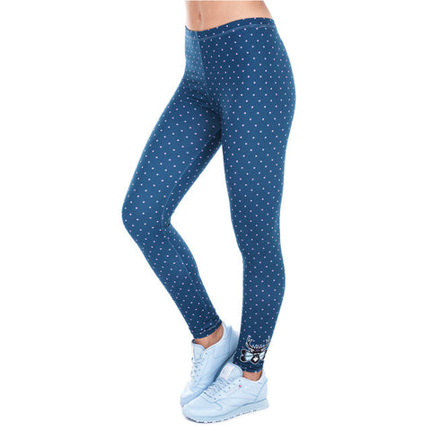 Zohra Printed Women Freeride Deer Dots Legging High Waist Legins Elastic Silm Fit Women Pants Leggings