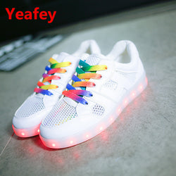 2017 Fashion basket Led shoes for adults Women Unisex Luminous light up glowing chaussure led Shoes Femme  Zapatillas Mujer