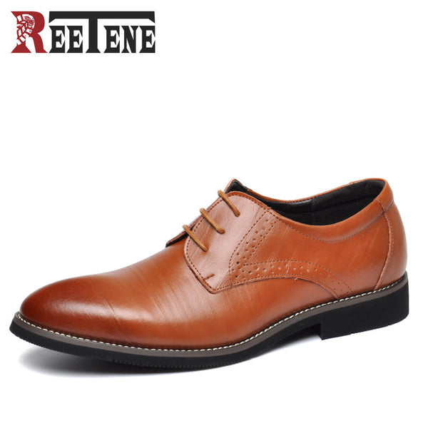 Mens Classy Genuine Leather Lace Up Dress Shoes